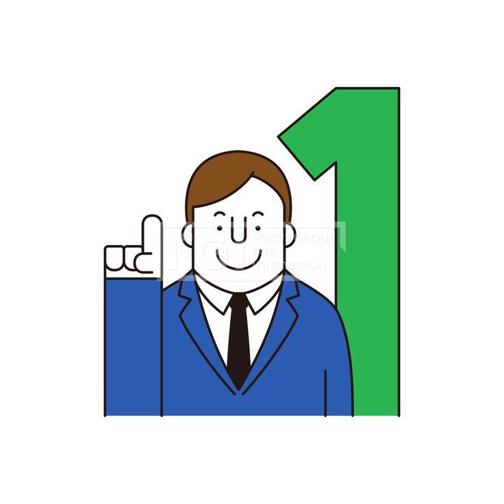 ILL161, 프리진, 일러스트, 생활, 사람, ILL161, 캐릭터아이콘, 캐릭터, 인물, 손짓, 상반신, 손가락, 핸드모션, 동작, 남자, 남성, 청년, 일등, 최고, 우승, 승리, 비즈니스, 넥타이,#유토이미지