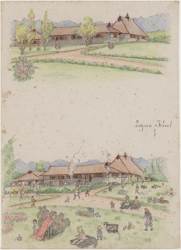 Primary school by Joke Broekema, 1942-1945. Museon, CC BY