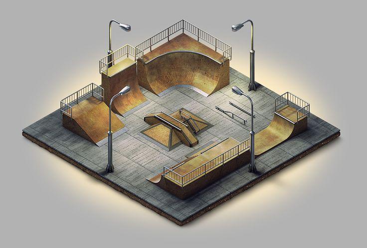 Miniature Playgrounds on Behance