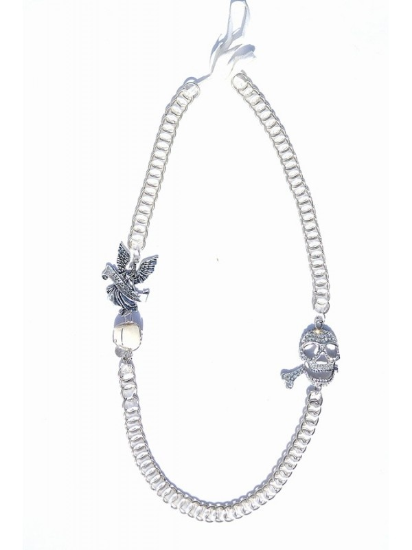 Necklace with skull strass - Casj