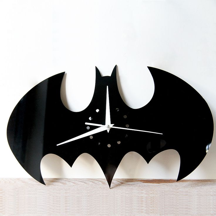 2016 New 3D Creative household adornment batman watches and clocks DIY wall clock sitting room wall clock