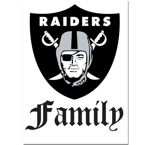 Pro Football Fever - Raiders Family Decal | Free Shipping, $12.49 (http://www.profootballfever.com/raiders-decal-family/)