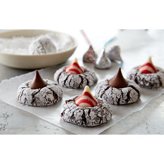 KISSed Peppermint Brownie Drops