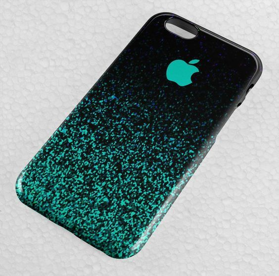 Ombre Mint Sparkle iPhone Case, iPhone 5-5S-5C-SE, iPhone 6-6S Plus Case, Galaxy Note Case, Samsung Galaxy Case Other, HTC, Other Cases.