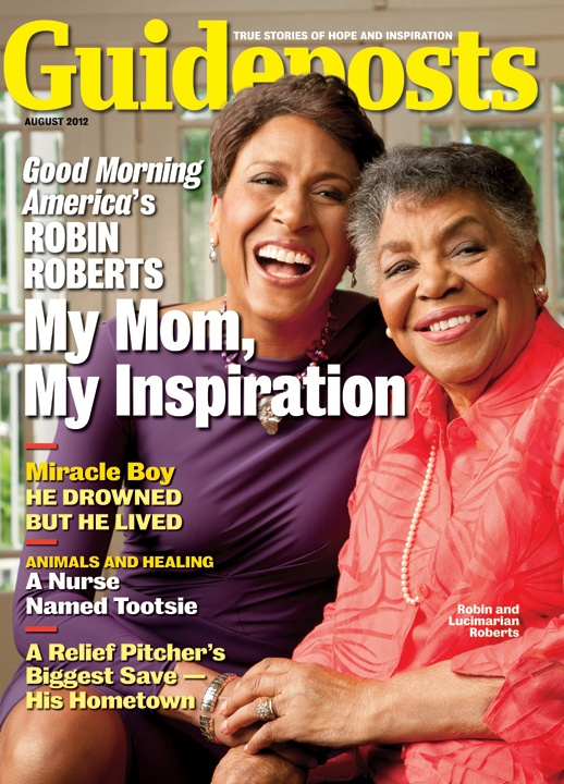 Guideposts is pleased to feature Robin Roberts and her mother, Lucimarian, on the cover of our Augusts 2012 edition. http://www.guideposts.org/inspirational-stories/shes-got-song-her-heart?utm_source=Pinterest_medium=GP_campaign=AugustCover07.25.12