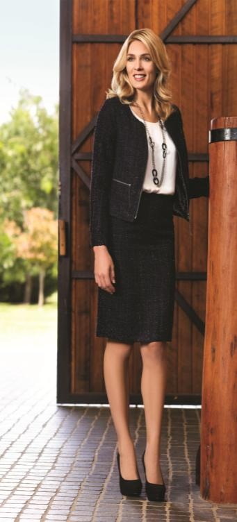 W.Lane will keep you looking polished this winter with a gorgeous sparkle tweed suit.  Tweed Jacket: $119.99  Silk Cami: $29.99  Tweed Skirt: $79.99    #WLane