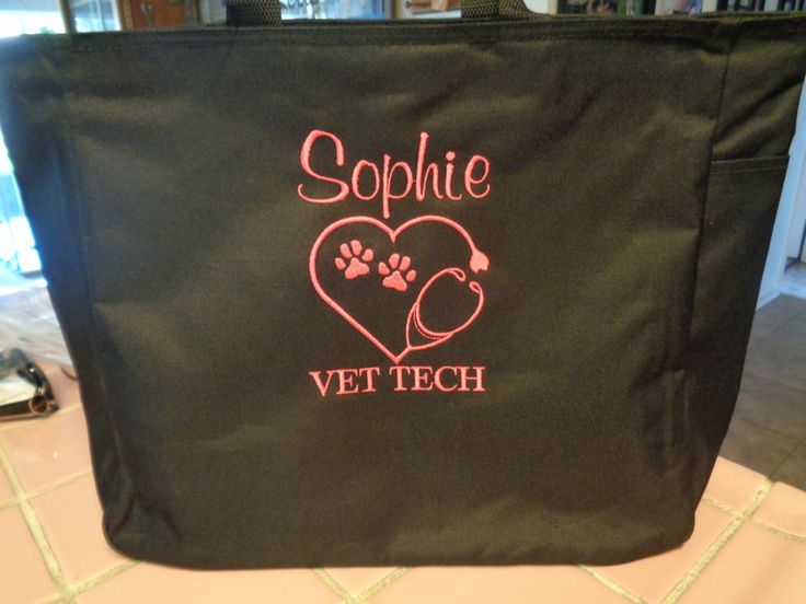 1 TOTE Bag VET DR VET TECH  TECHNICIAN OFFICE GIFT ANIMALS PETS DOG CAT HORSE #PORTCOMPANY #TotesShoppers