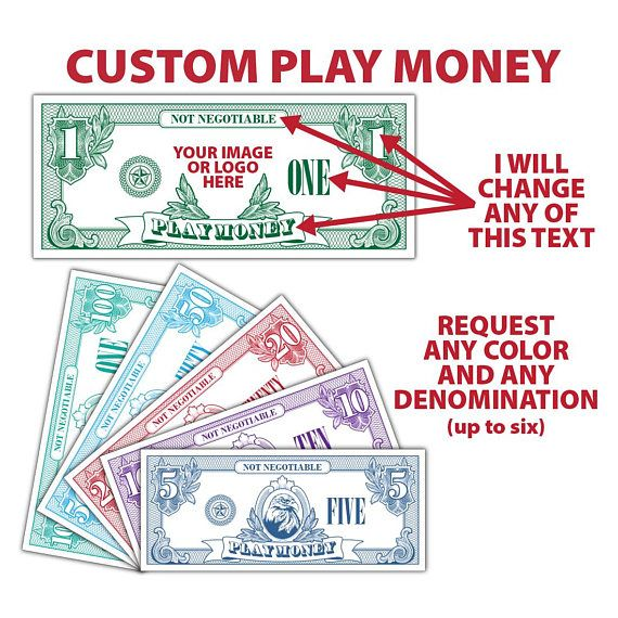 142 best my print templates images on pinterest for Custom fake money template
