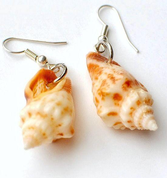 Cute and Simple DIY Seashell Earrings: http://beachblissliving.com/how-to-make-seashell-jewelry/