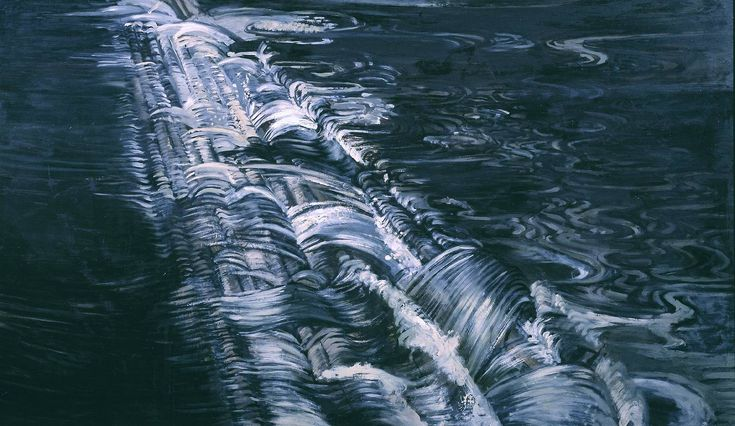 Edward Middleditch 'Sheffield Weir II', 1954 © The estate of Edward Middleditch. Oil painting.
