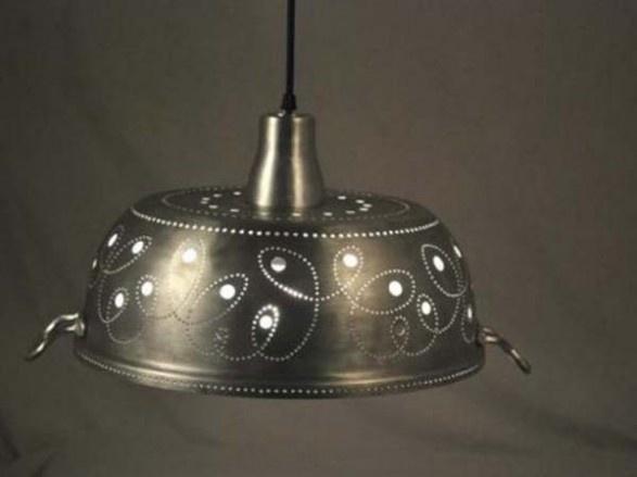 upcycled lighting ideas. wonderful ideas kitchen pot turned into hanging light for upcycled lighting ideas c