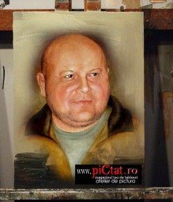 Tablouri pictate: Pictura dupa fotografie Portret de barbat exemple Pictura Portrete
