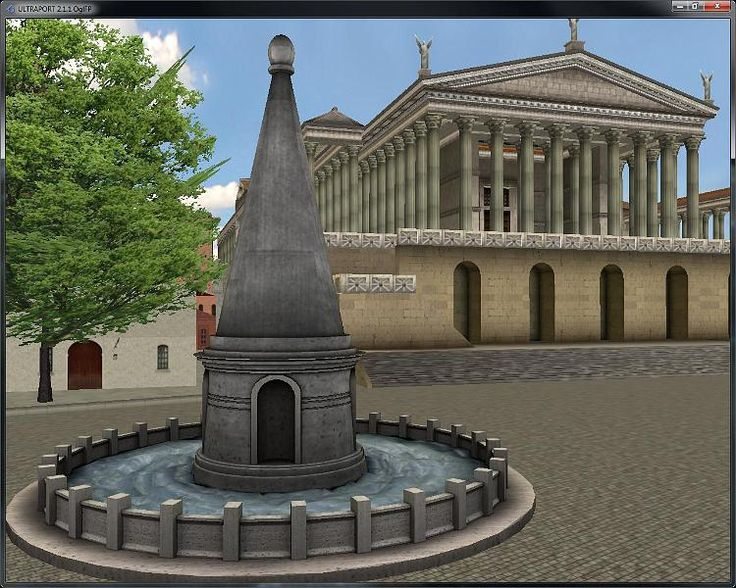 Immagine originale [Rome320AD - view of the Meta Sudans fountain and the Temple of Venus and Rome from the Arch of Constantine.jpg - 223kB] http://www.ultramundum.org/warehouse/GBA/roma320ad/album/slides/Rome320AD%20-%20view%20of%20the%20Meta%20Sudans%20fountain%20and%20the%20Temple%20of%20Venus%20and%20Rome%20from%20the%20Arch%20of%20Constantine.html