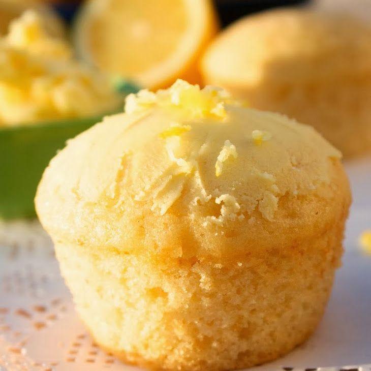 Lemon Muffins Recipe Breads with plain yogurt, white sugar, eggs ...