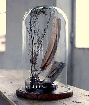909 best images about decor bell jars cloches on for Cloche verre decorative