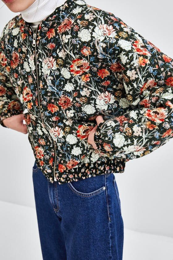 a65769005 Image 4 of PRINTED QUILTED BOMBER JACKET from Zara | Dream Closet ...