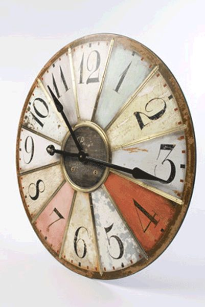 Image detail for -... Extra Large Multicoloured Panel Wooden Wall Clock by Heaven Sends