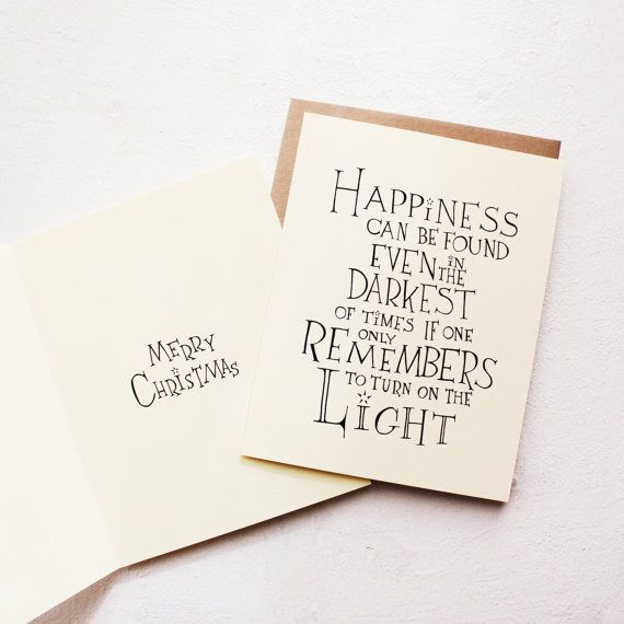 """This inspiring Dumbledore card. 