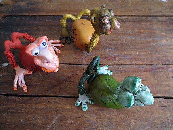 The Creatures Tagua Nut Polymer Clay Glass by ReTeTeer on Etsy