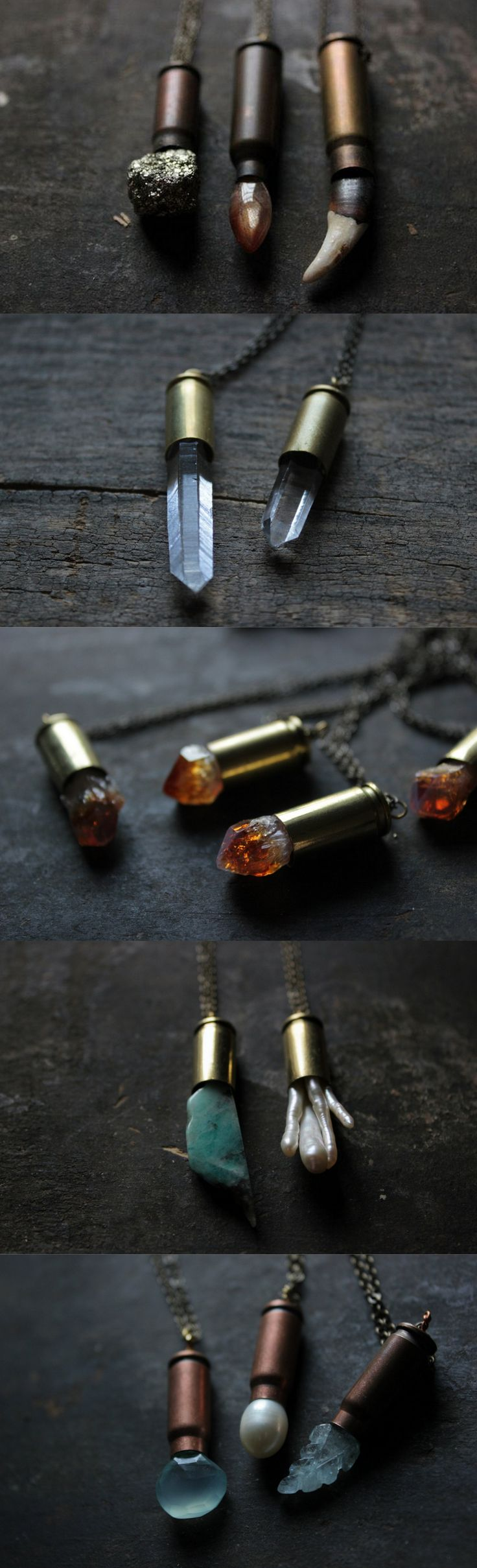 Bullet necklace,bullet jewelry,quartz crystal necklace, raw quartz…