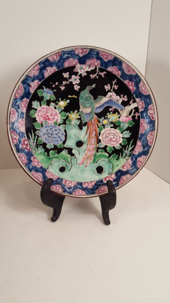 Vintage #antique #NIPPON bird plate peacock floral by SoItsOld on #etsy.