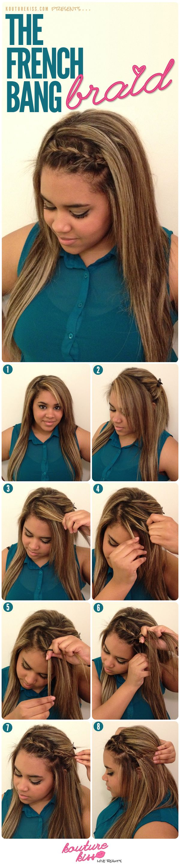 25 unique french braided bangs ideas on pinterest braiding kouturekiss the french braid bang httpjexshop urmus Image collections