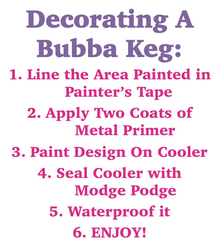 Sugar Snap Pearls {Archive}: Five Steps to Decorating a Bubba Keg
