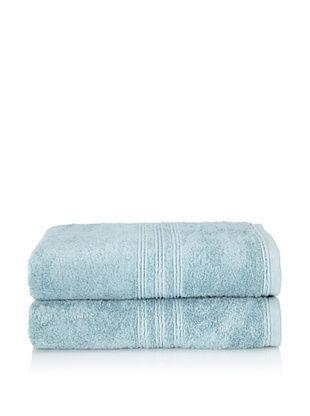 Chortex 2-Piece Imperial Bath Sheet Set, Soft Aqua