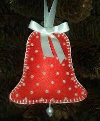 Resultado de imagen para moldes de campanas navideñas en fieltro