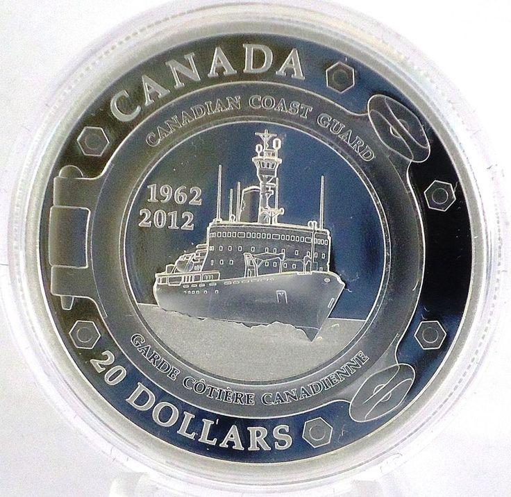2012 50th Anniversary of the Canadian Coast Guard Fine Silver Commemorative Coin