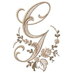 Free Machine Embroidery Monogram | Monogram G embroidery design