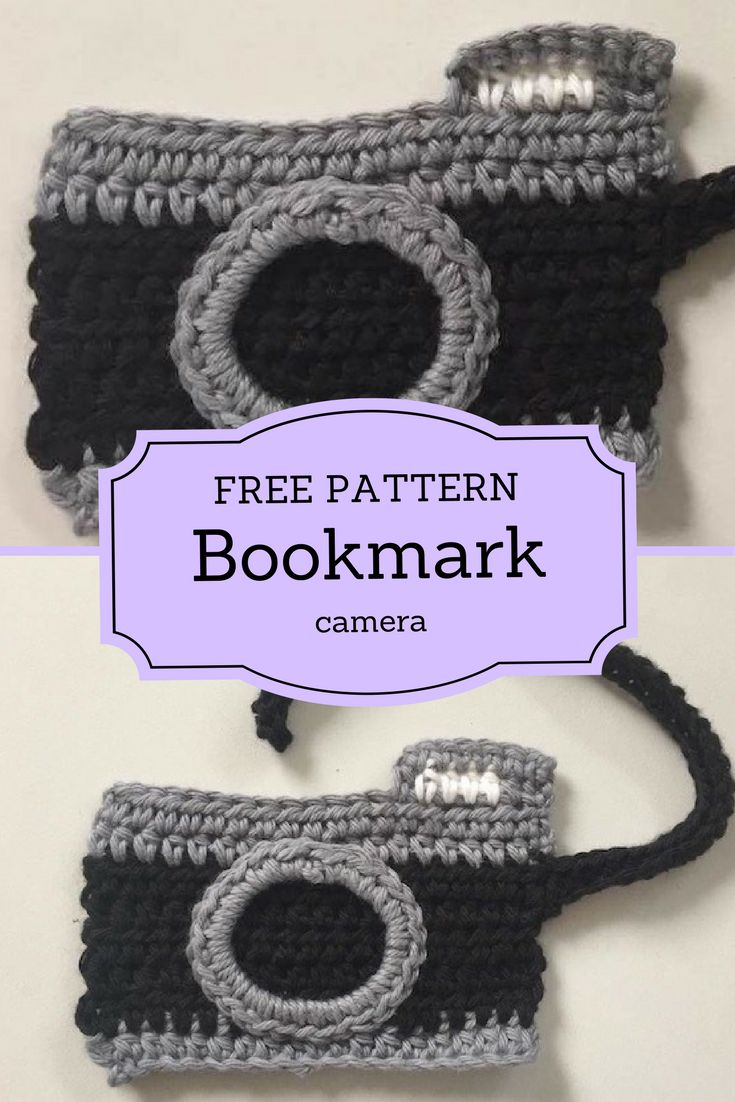 Free Pattern for this camera bookmark