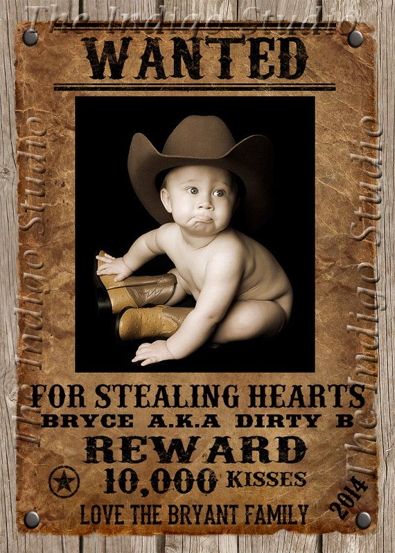 cowboy wanted poster valentine u0026 39 s day photo card by