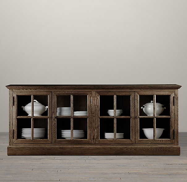 Buffet In Dining Room Black French Casement Low Cabinet From Restoration Hardware