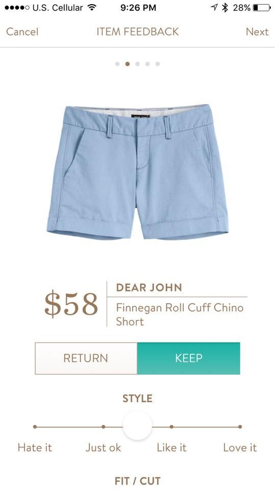 "Sylist: I do not have any blue shorts but really want them and these Dear John Finnegan are adorable and have my preferred 4"" inseam."