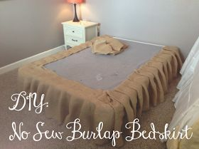 online shop usa clothing You Got Personal  No Sew Burlap Bedskirt Tutorial