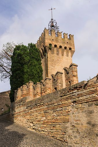 The old castle Offagna Marche Italy