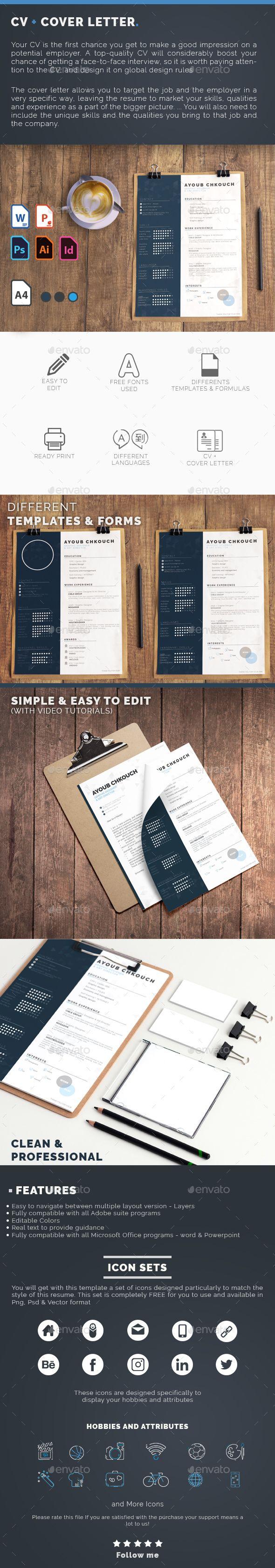 CV Cover letter Multi Language Word
