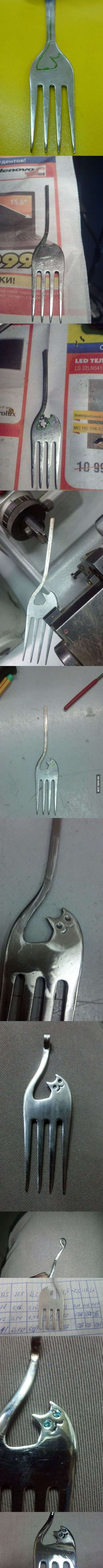Please don't show this to my wife. I'd like to keep at least one fork in my house. (9gag)