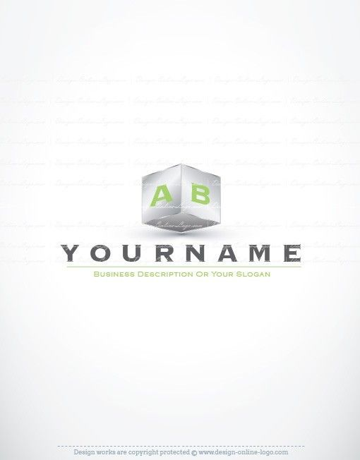 Exclusive Design: 3D Initial Cube Logo + Compatible FREE