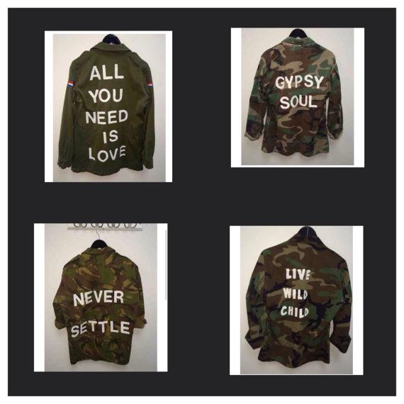 Military Jacket, US Army Jacket, Customized Army Jacket