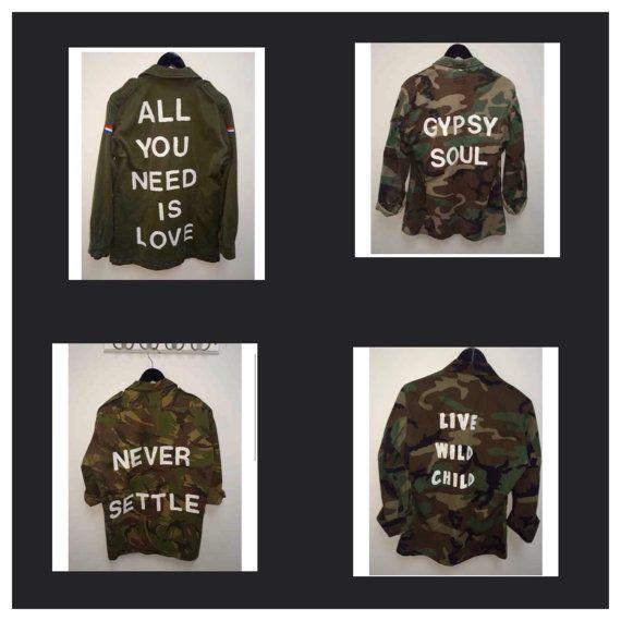 Military Jacket, US Army Jacket, Customized Army Jacket