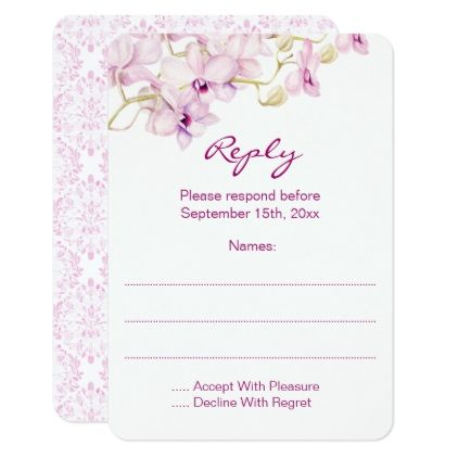 #Exotic Purple Orchid Watercolor Reply Cards - #weddinginvitations #wedding #invitations #party #card #cards #invitation #floral