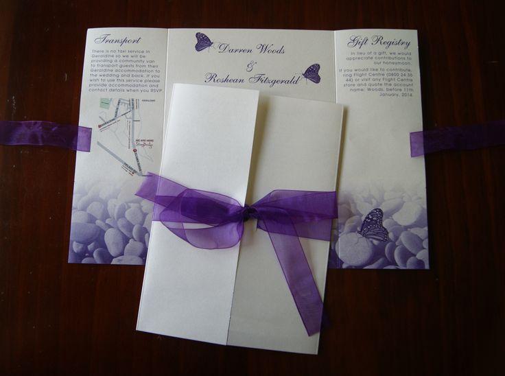 Wedding Invite - Chic Design www.chicdesign.co.nz