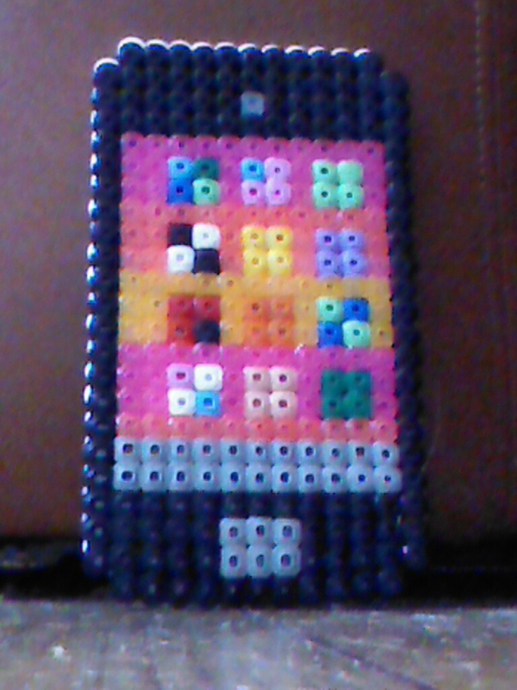 Hama bead iPhone 5 by navy blue  Perler Beads  Perler