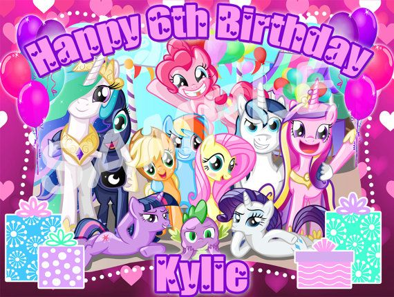 My Little Pony Edible Cake Image Topper on Frosting and Icing Sheets