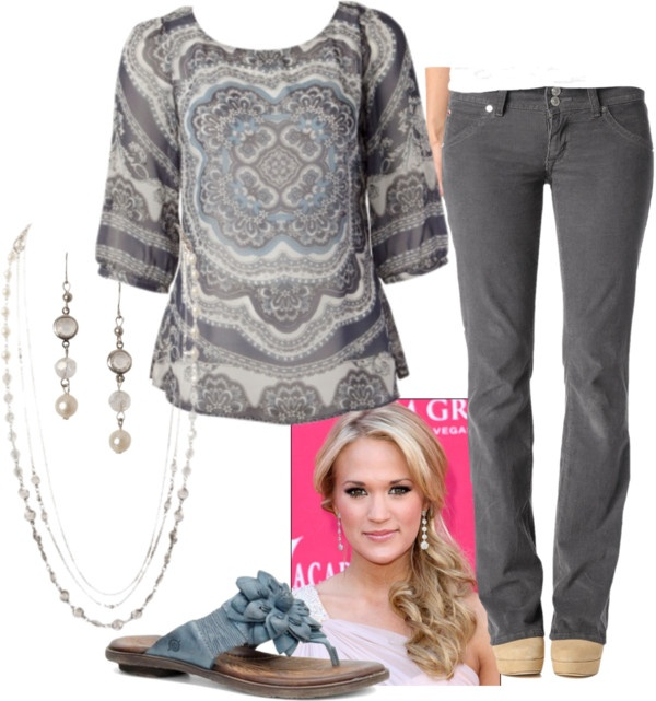 """""""Grey & Blue"""" by tssalmon on Polyvore."""