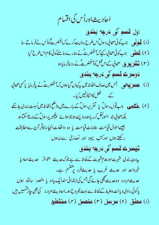 Hadith & Its Types