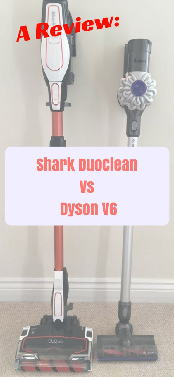 Ever wonder how the new technology in the Shark vacuum compares to the Dyson? Well, here is my review and comparison of the popular cordless vacuums. #review #dyson #sharkduoclean #cleaning #vacuum
