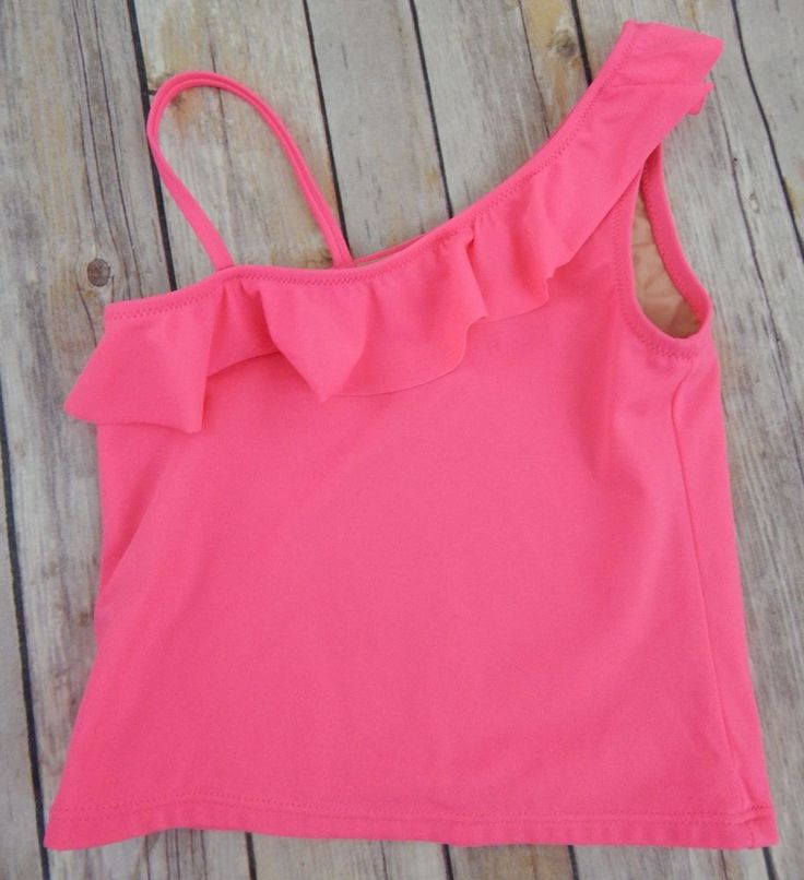 Crewcuts by J. Crew Tankini Pink Bathing Suit Top Girls Size 6/7 #Crewcuts #TankiniTop